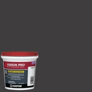 Custom Building Products Fusion Pro #60 Charcoal 1 Qt. Single Component Grout-FP60QT-4 - The Home Depot