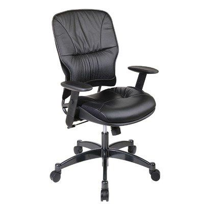 SPACE Collection: Leather Managers Chair with Metal Base and Height Adjustable Arms  #OfficeStar #OfficeProduct