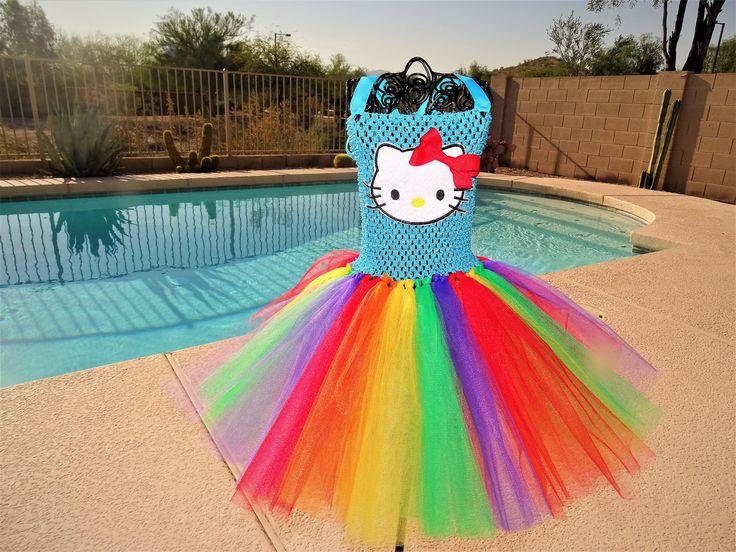 Hello Kitty Inspired tutu dress, Halloween tutu costume by TutuCuteandBowTastic on Etsy