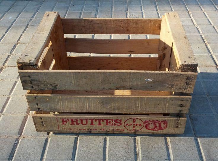 fruites red antigua caja de madera usada para la recoleccin de fruta