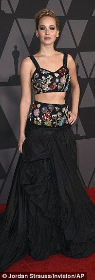 Jennifer Lawrence leads the stars at Governors Awards | Daily Mail Online