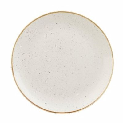 "Churchill China, Coupe Plate, Stonecast, Barley White, 12 3/4"" Churchill China RWS-104582"