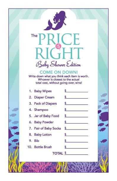 Instant Download Little Mermaid Baby Shower by Studio20Designs