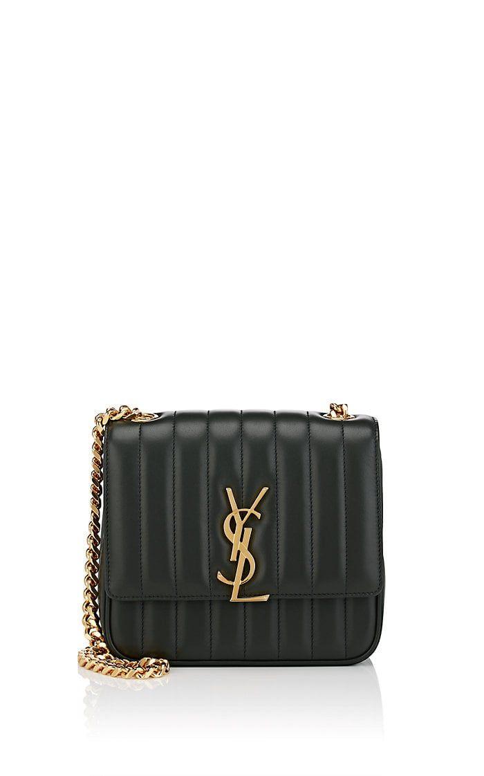 690f99bd84d Saint Laurent Monogram Vicky Medium Leather Chain Bag