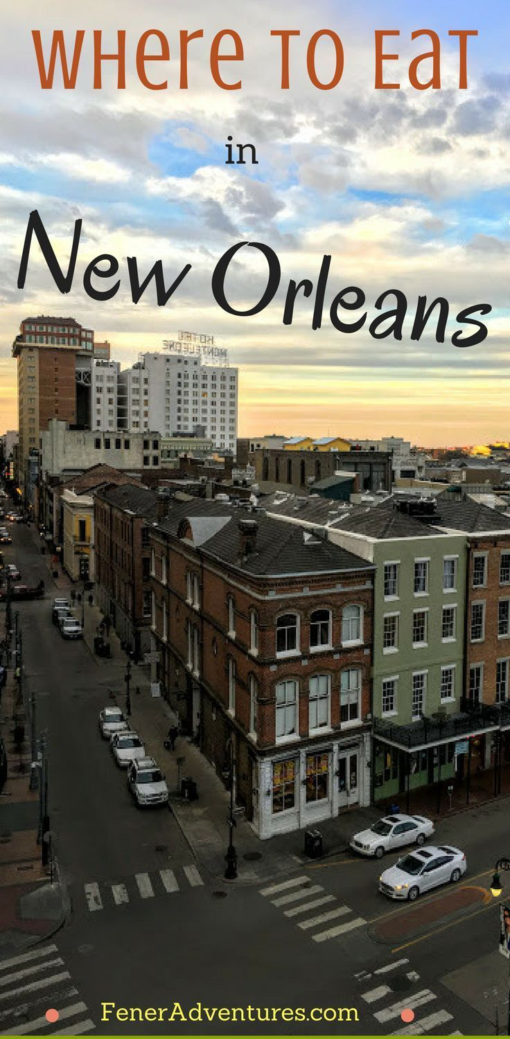 Foodie vibes in New Orleans. ----> Click through to read about eating in and around this iconic city.    ...   www.FenerAdventures.com   ...    road trip, u.s.a., nola, dinner, po boys, Louisiana, crawfish, vacation tips, trip itinerary, where to eat