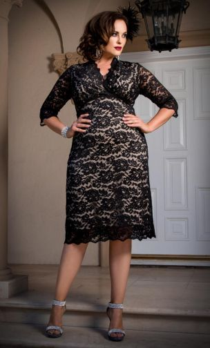 Plus Size Boudoir Lace Dress