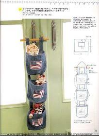 Porta treco pra quem precisa de espaço_ Feito de jeans