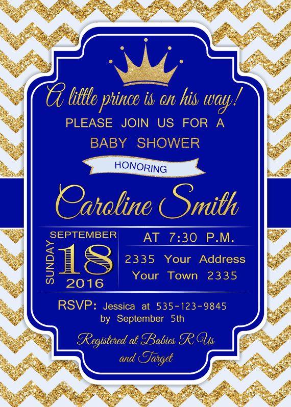 Baby Shower Invitation Boy Royal Invitation Royal Baby