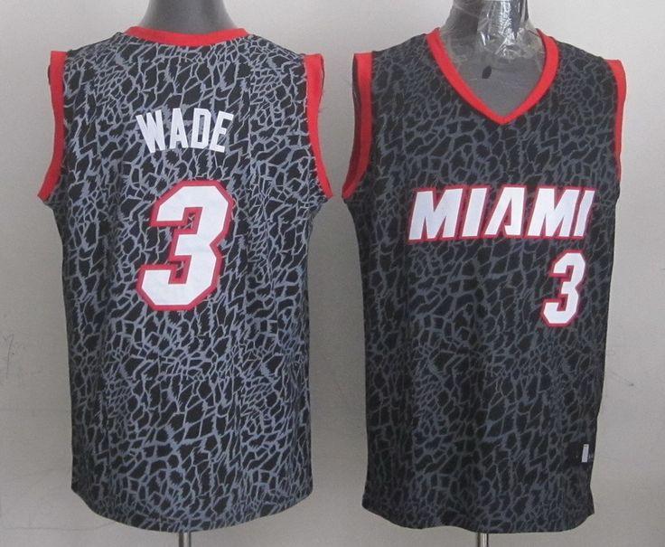 Men's NBA Miami Heat #3 Wade Crazy Light Swingman Black Jersey