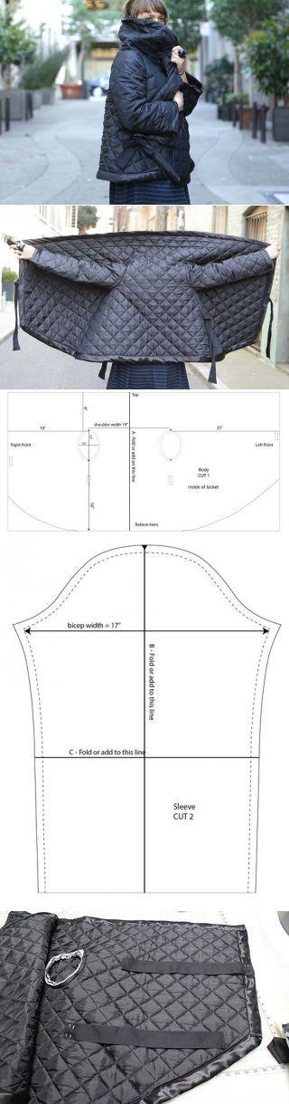 Стеганный прямоугольный жакет (выкройка, Diy) / Простые выкройки / ВТОРАЯ УЛИЦА | Шьем и переделываем-3 | Постила