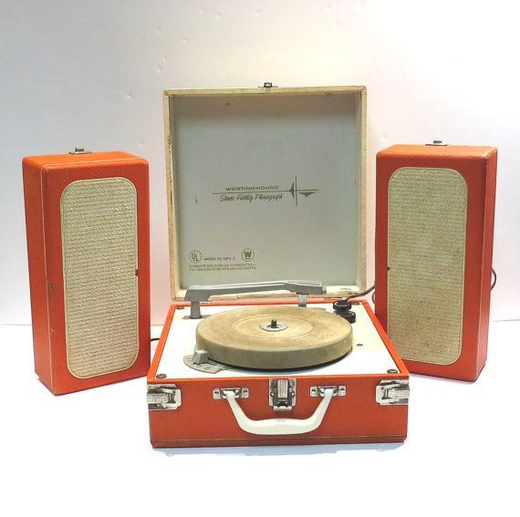 Westinghouse Stereo Fidelity Portable Phonograph 1960s