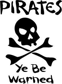 pirates ye be warned printable sign
