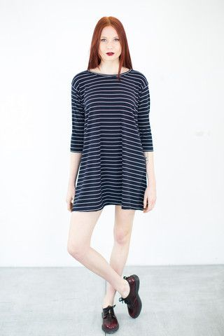 Dress See You Navy Stripes