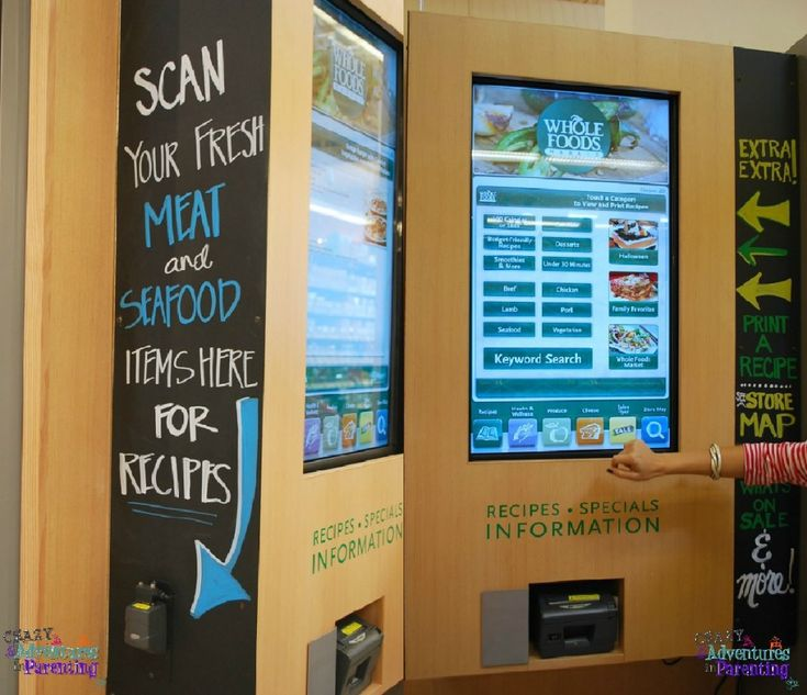 Whole Foods new recipe scan machine- scan a piece of meat to find recipes to create in-store!