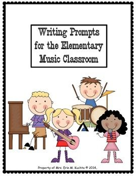 Writing prompts, great idea for importance of music and or TOC days. Contains several first line prompts