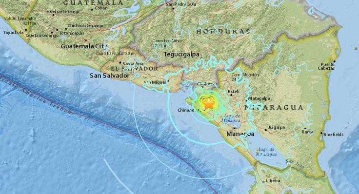00:17 ET (04:17 GMT) 10 junio, 2016  En solo tres minutos, dos sismos golpearon la costa del Pacífico de Nicaragua, cerca de la frontera con Honduras y El Salvador, según el Servicio Geológico de Estados Unidos (USGS, por sus siglas en inglés).  El primer sismo se registró a las 11:25 ET, con una magnitud de 6,1 y una profundidad de 10 km.  Tres minutos más tarde, otro sismo de 5,1 y también a una profundidad de 10 km se sintió en la misma zona.  La vocera y primera dama de Nicaragua…