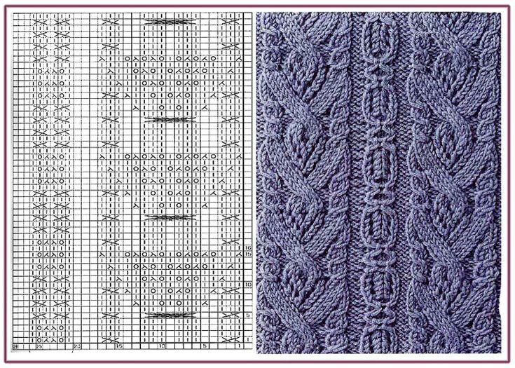 Gallery.ru / 85 - Образцы и схемы узоров спицами (часть 1 - восточные) - HelenaKovgan