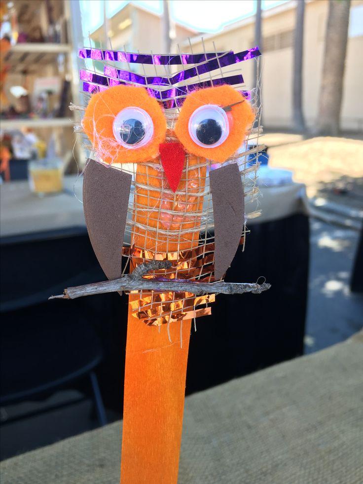 Owl Craft habe ich mit recycelten Materialien und Schrott gemacht. umweltfreundliche Kunst …  – Halloween | Crafts | Arts | Kids Painting Projects