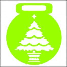 Categoría: Stencils Para Galletas - Producto: Stencil Para Galletas 7Cm-Arbol De Navidad-C043 - Envase: Unidad - Presentación: X Unid.