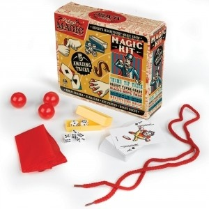 Say the magic word to learn five awesome new tricks! Set Includes: Thumb tip trick, secret taper cards, magic rope trio, miracle dice and multiplying balls. $14.99 #magic #trick #magician #kids #book