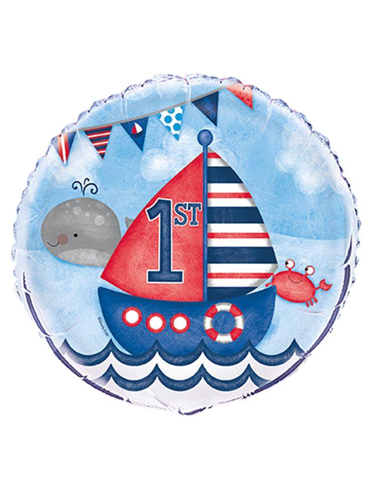 Palloncino alluminio 1° compleanno marinaio su VegaooParty, negozio di articoli per feste. Scopri il maggior catalogo di addobbi e decorazioni per feste del web,  sempre al miglior prezzo!