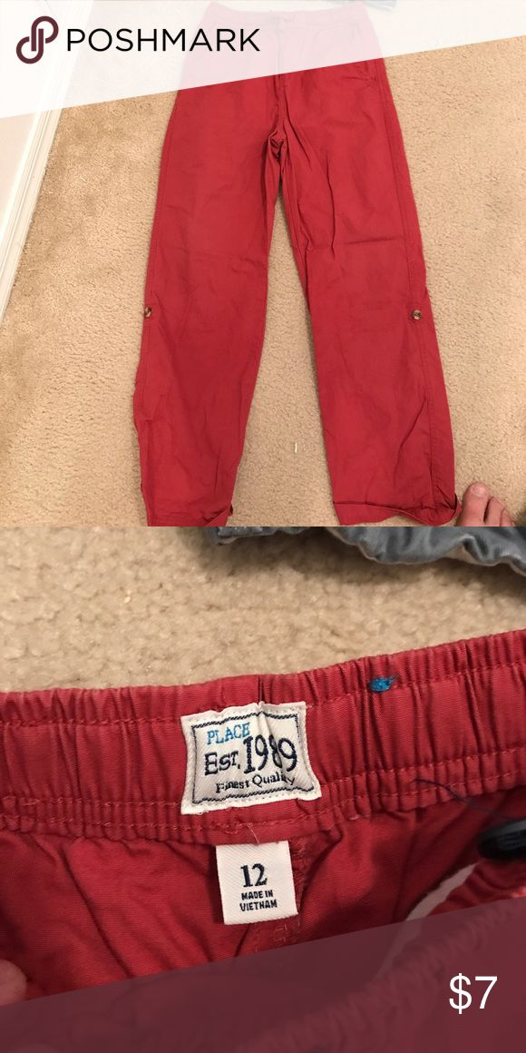 Boys kaki jeans convertable to shorts or capree Overall good condition. Lightweight pants with button on side to roll up into capree's. The Children's Place Bottoms Jeans