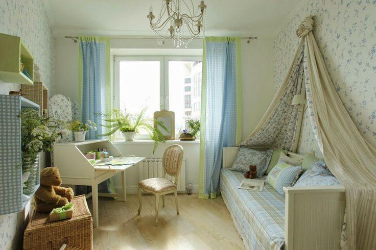 Дизайн однокомнатной квартиры: Детская комната для маленькой принцессы - зеленый театр