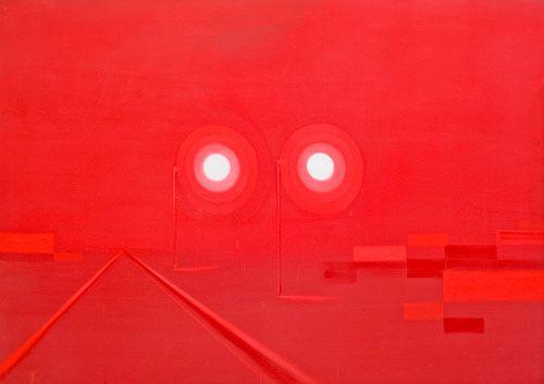 Wanda Koop, Untitled (Infrared–Green Zone), 2007, acrylic on canvas