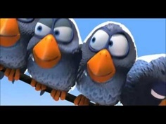 "For the Birds~ Approx. 3-min. Disney Pixar video that shows the social behavior of a flock of tiny birds, and how they respond to a newcomer. In the end, the bullies' behavior causes them to lose their feathers and feel embarrassed that they are ""naked."" Good introduction for a discussion of inference, cause and effect , bullying, or peer group pressure."