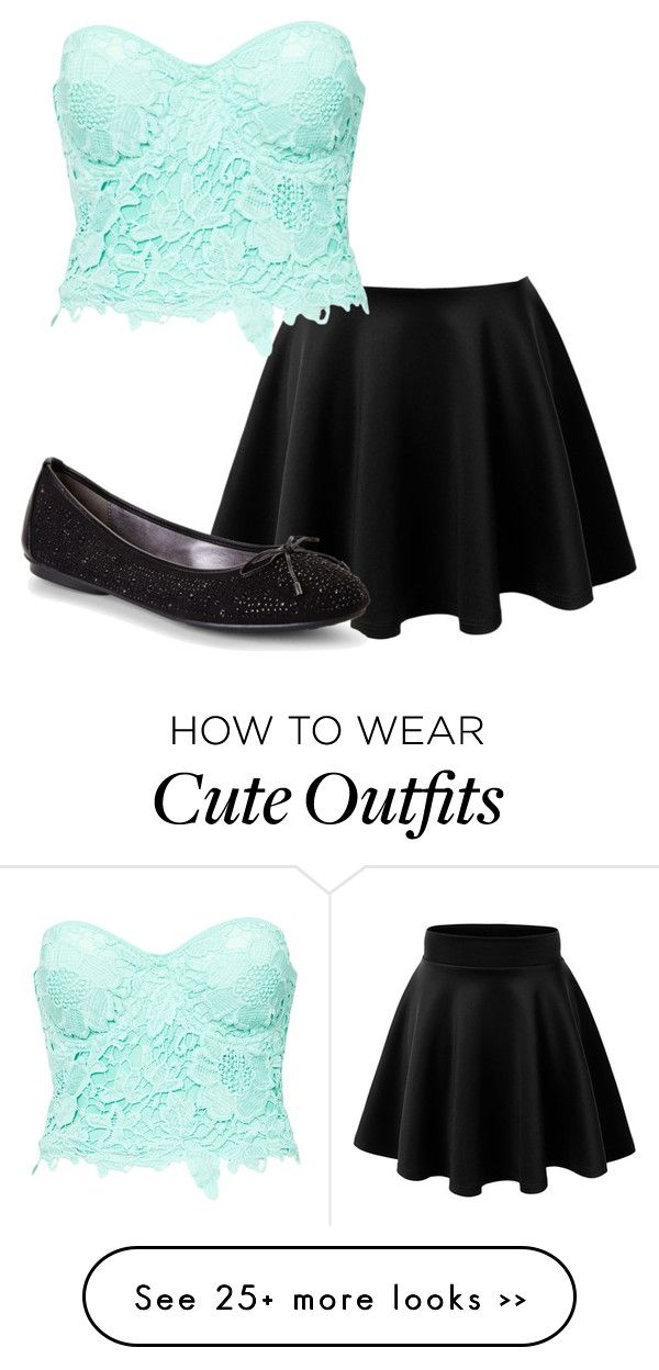 """Cute Date Outfit"" by rainbopanda on Polyvore featuring Adrienne Vittadini and Club L"