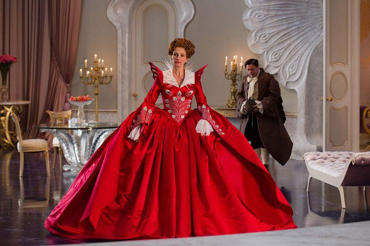"""Relativity's Untitled Snow White,"" which will certainly get a name change before its March 2012 release, stars Julia Roberts, Lily Collins, and Armie Hammer.: Costumes, Mirror Mirror, Snowwhite, Eiko Nishioka, Dresses, Julia Roberts, Movies, Evil Queens, Snow White"