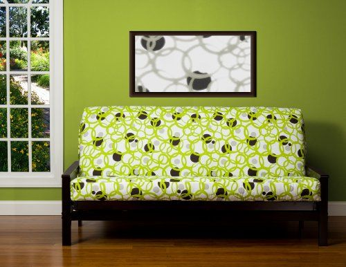 Sis Cover Full Circle Green Futon Fabric Removable Only