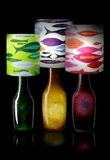 Ken Scott design.  Beautiful, colorful, fun lamps for a child's room or nursery.