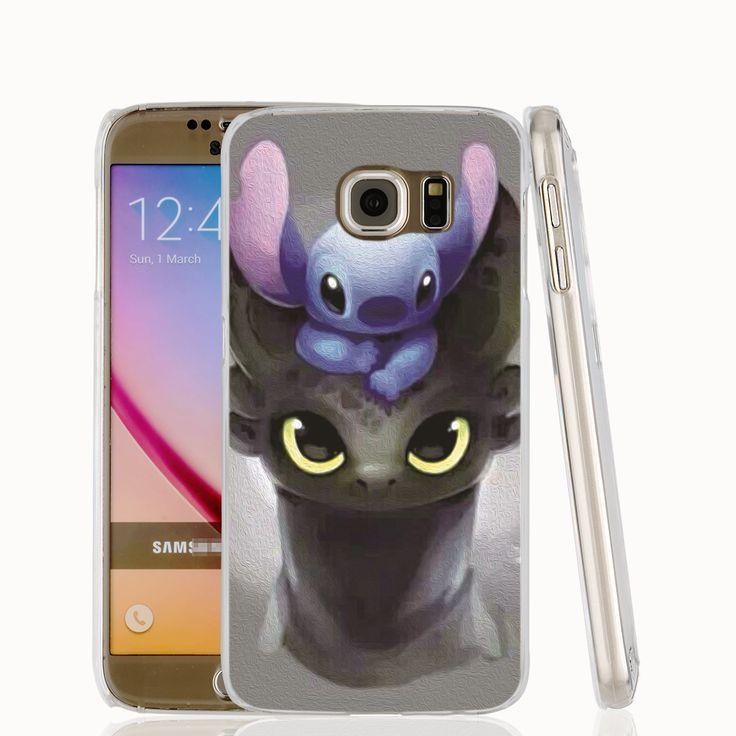 16409 Stitch And Toothless Dragon Alien cell phone case cover for Samsung Galaxy S7 edge PLUS S6 S5 S4 S3 MINI