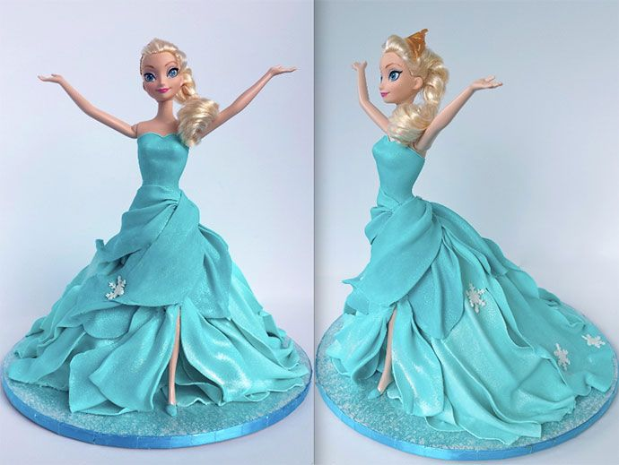 1000+ ideas about Frozen Doll Cake on Pinterest Doll ...