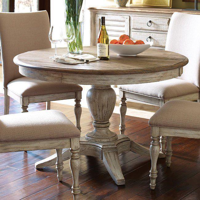 Weatherford Milford Dining Table Cornsilk In 2020 Rustic
