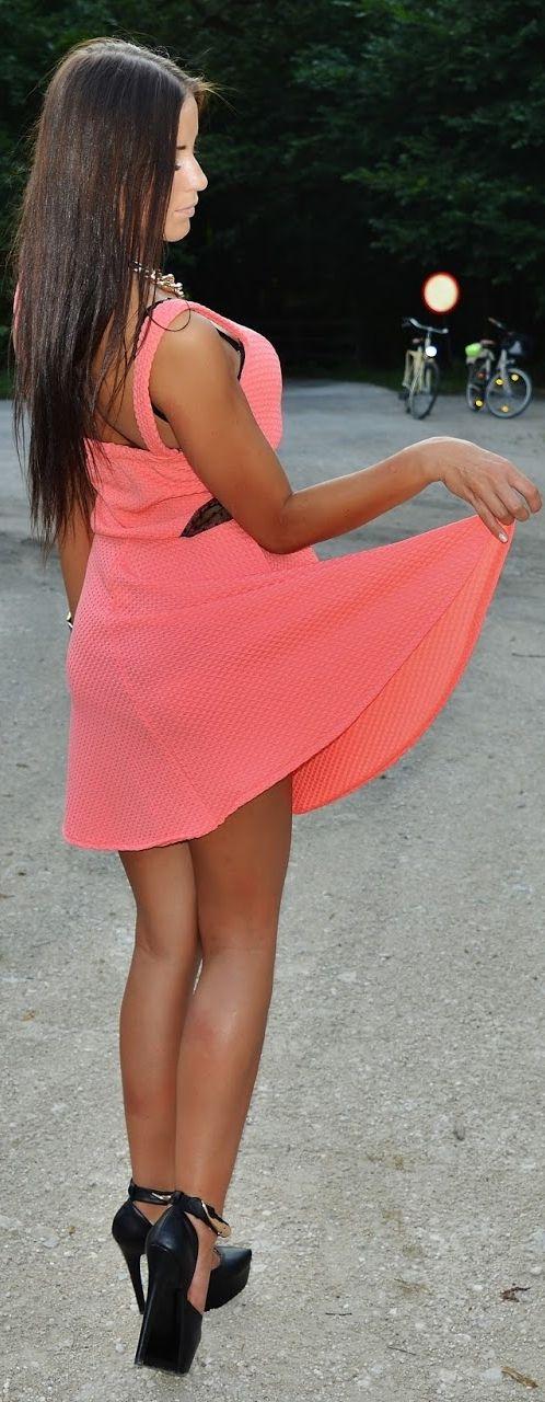 Pink Dress Sukienka - FUN_DIRECT  //  Buty - OBUWIE DAMSKIE TOP MODA, ALLEGRO