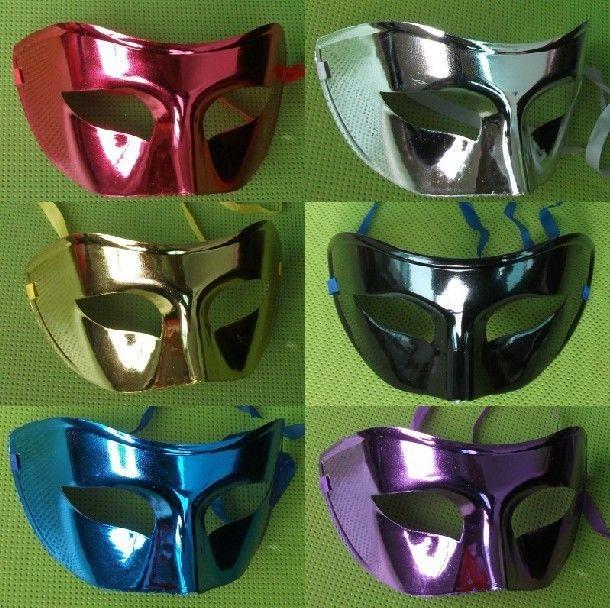 Мужские маски хэллоуин маскарадные маски марди гра венецианского танцевальная ну вечеринку лицо маску смешанный цвет 30 шт./лот