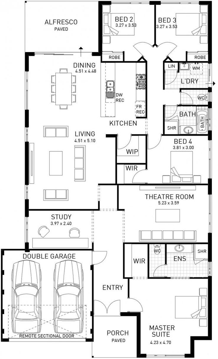 Moore River  Single Storey Floor Plan  WA. 397 best 2016   House Plans images on Pinterest   Floor plans