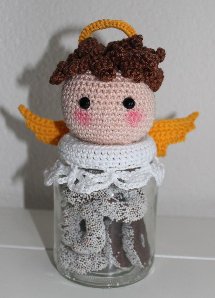 Dekselse Potjes christmas angel crochet pattern kerst engel haken patroon
