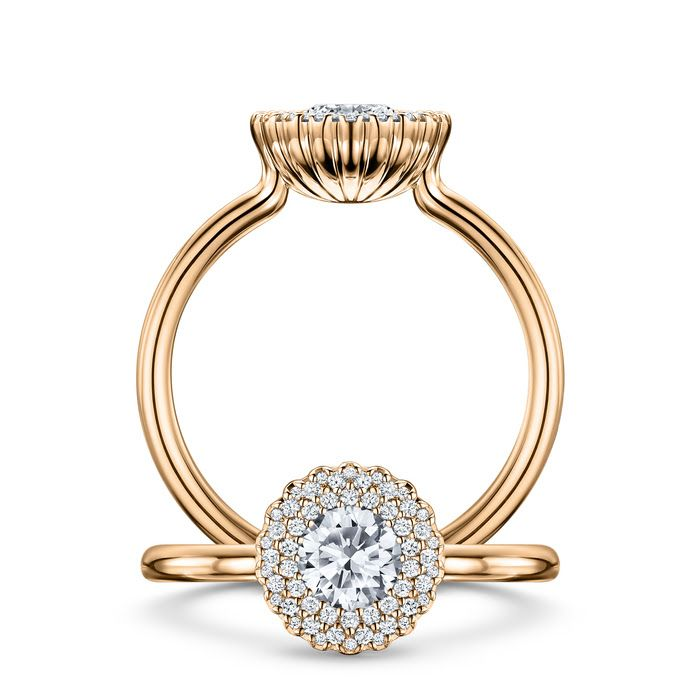 Cannelé Des Cévennes, rose gold white diamonds by Andrew Geoghegan