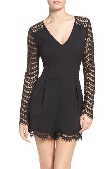 Adelyn Rae Lace Inset Romper available at #Nordstrom