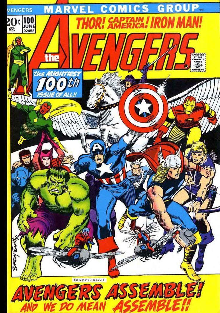 Pencil Ink - vintage comic book art blog 1940s-1990s: Avengers #100 - Barry Windsor Smith art & cover