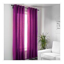 IKEA - MARIAM, Cortina, 1par, , Las cortinas filtran la luz y proporcionan privacidad, porque evitan que se vea la estancia desde el exterior.Gracias a los ojales de la parte superior, podrás colgar las cortinas directamente en la barra.