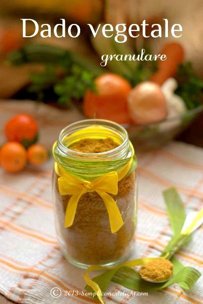Dado vegetale granulare, ricetta Bimby