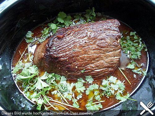 Klassischer Crock Pot Rinderbraten, ein sehr leckeres Rezept aus der Kategorie Schmoren. Bewertungen: 2. Durchschnitt: Ø 3,8.