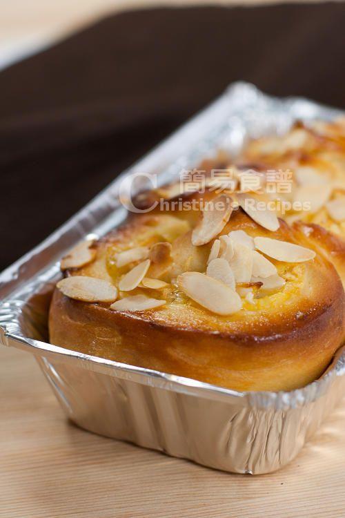 Apple Custard Buns (Tangzhong Method)