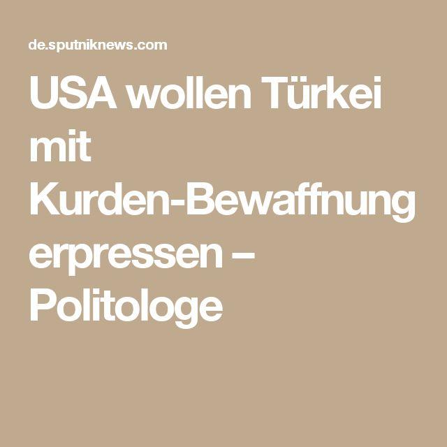 USA wollen Türkei mit Kurden-Bewaffnung erpressen – Politologe