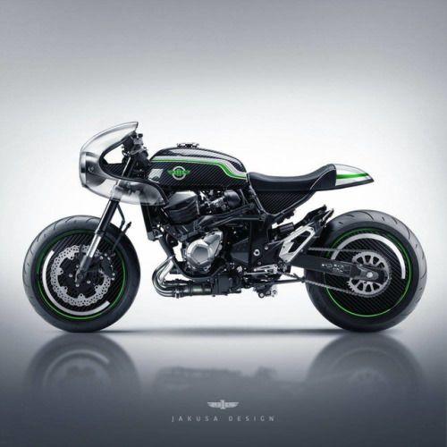 Kawasaki Z800 Cafe Racer design by Jakusa Design #motorcycles #caferacer #motos | caferacerpasion.com
