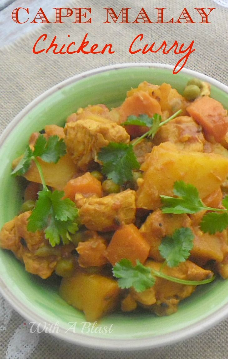 Cape Malay Chicken Curry ~ Easy recipe for this traditional Cape Malay, South-African curry dish #CapeMalayCurry #CurryDish #ChickenRecipe